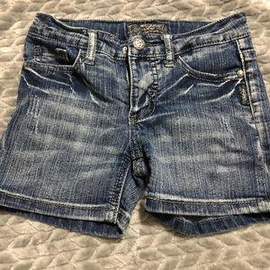 New girls silver shorts